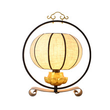 LED desk lamp of new Chinese style archaize iron art contracted atmospheric study bedroom dining-room lamps and lanterns(China)