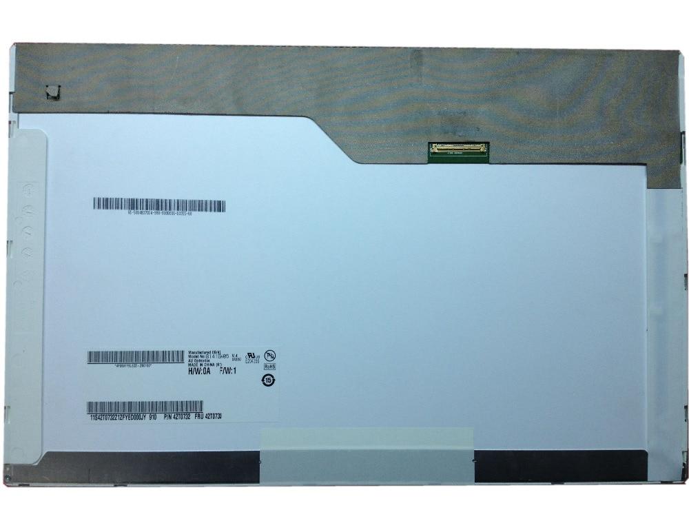 B141EW05 V.4 14.1 LED LCD Screen fit LTN141AT15 LP141WX5 TLP3 For Lenovo T410 Laptop LED LCD SCREEN PANEL new original auo laptop lcd led screen b101aw06 v 1 n101l6 l0d