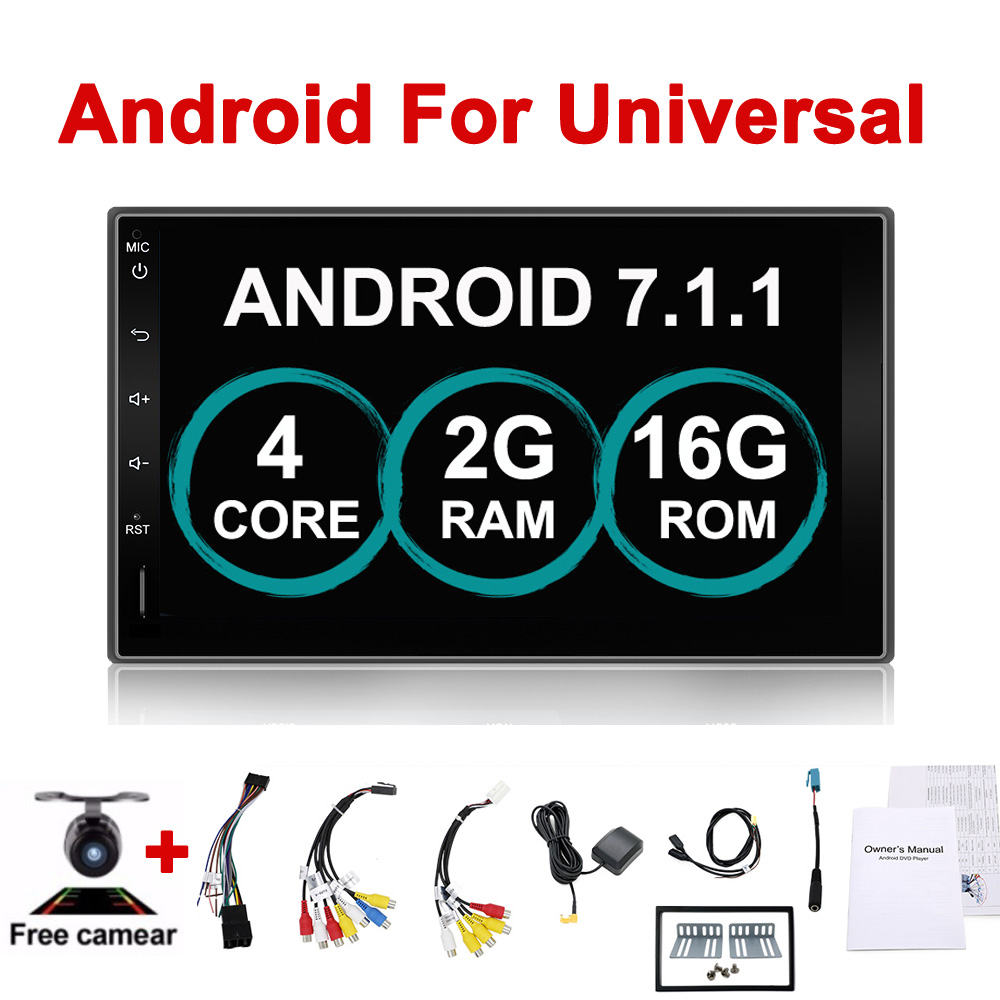 Voiture Électronique 7 2Din Android Voiture GPS Robinet PC Tablet 2 din Universel Pour Nissan GPS Navigation BT Radio stéréo Audio Sans DVD