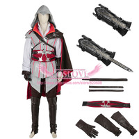 Assassins Creed Assassin's Creed 2 Ezio Auditore Da Firenze White Cosplay Costume Custom Made For Halloween Christmas