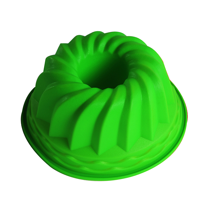24cm * 11cm Bundt Swirl Ring Silicone Cake Bread Pastry Dulang Mold Pan Bakeware Mold Christmas Decorating Tools