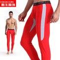 Cultivar a moralidade dos homens long Johns-outono/inverno de algodão plástico leggings quentes, cultivar a moralidade calças