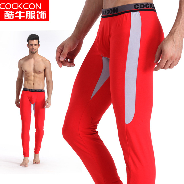 Cultivate one's morality men long Johns - autumn/winter cotton plastic warm leggings, cultivate one's morality pants