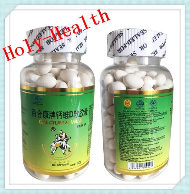 1 bottle/lot halal green nature food liquid calcium d3 softgels  for increase bone density ,prevent soreness of waist and legs