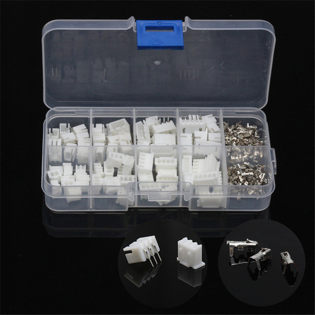 230pcs 2/3/4/5Pin JST-XH 2.54mm Dupont Connector Male/Female Wire Cable Jumper Pin Header Housing Connector Terminal Kit