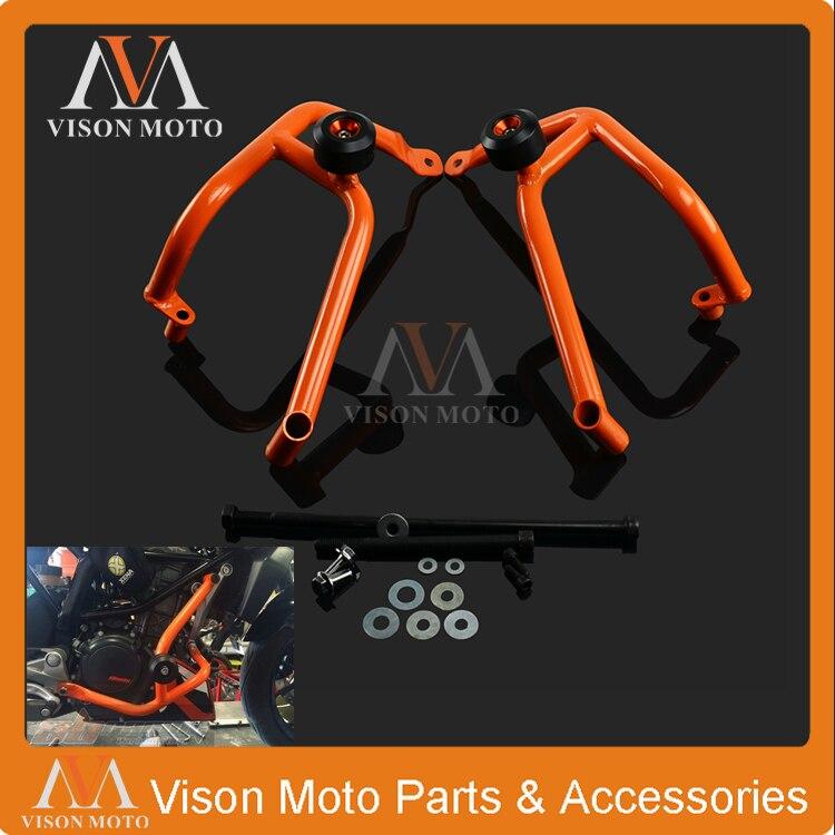 High Performance Orange Crash Bars Frame Protector Protection Guard For KTM Duke 200 Duke200 2013 2014