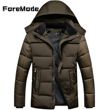 ForeMode New Winter Jacket Men 2016 Men Cotton Blend Coats Zipper Mens Jacket Casual Outwear for Men Asia Size 4XL Clothing Male
