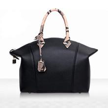 2016 New Winter Portable Women Handbag PU Leather Serpentine Messenger Bag Fashion Hobos High-capacity Shoulder Bag