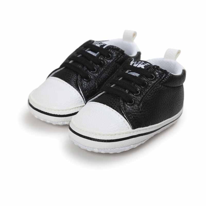 Hot Classic Solid Sportschoenen Pu Leer Baby Mocassins Zuigelingen Baby Peuter Non-slipborn Baby Schoenen 0-18M