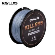 цена на Mavllos 0.06-0.6mm 4-121Lb 4 Strands Braided Fishing Line 150m/220m Super Strong Saltwater Multifilament 4W PE Fishing Line