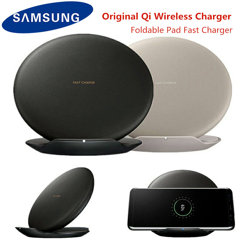 Original Samsung Fast Wireless Charger Qi Smart Quick Charge For IPhone X XR XS 8/Galaxy