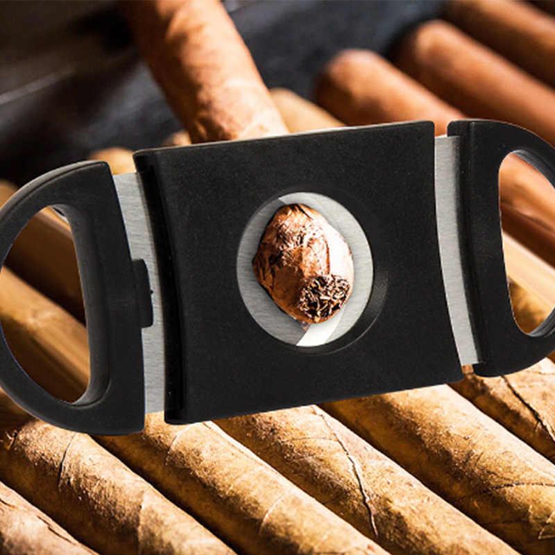ポータブルシガーカッター真新しいステンレス鋼金属クラシックシガーカッターギロチンクリスマスシガーはさみギフト