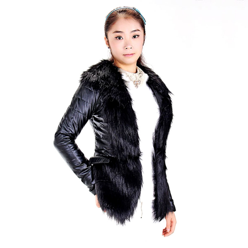 Aliexpress.com : Buy Hot Sale Luxury Women's Faux Fur Coat Leather ...