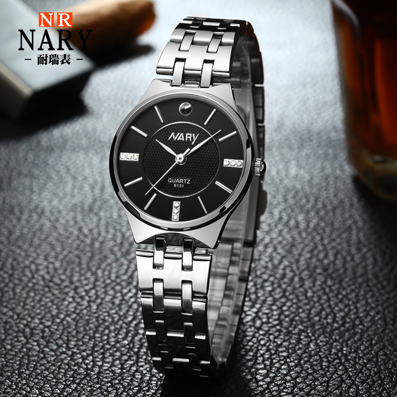 NARY Luxury Brand Fashion Quartz Women Watch Ladies Stainless Steel Rhinestone Watches Casual Clock Female Dress Watch Relogio luxury brand rebirth fashion quartz watch women ladies stainless steel bracelet watches casual clock female dress gift relogio