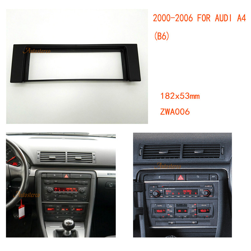 Single din auto car radio fascia facia panel adapter for for Mueble 2 din audi a4