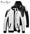2017 новых людей Кожаные Куртки пальто черный белый мужчины Кожаные Jaquetas Куртки пальто Зимние Кожаные Замши базовая Куртка