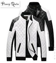 2017 new men Leather Jackets coats black white men Leather Jaquetas Jackets coat  Winter Leather Suede basic Jacket