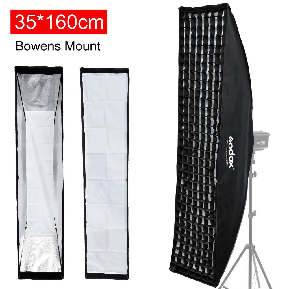 Godox Strip Beehive Softbox 35x160cm / 14x63 w/ Honeycomb Grid Bowens Mount