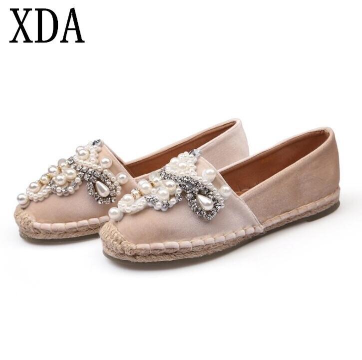 XDA 2018 new fashion Spring Autumn Women Loafer Round Toe es