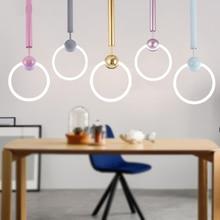 JAXLONG Modern Minimalist Pendant Light Fashion Led Pendant Lamp Restaurant Nordic Balcony  Shop Dress Shop Bar  Hanging Lamp цена