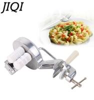 JIQI Italian Noodle Making Machine Spaghetti Pasta Handmade Pressing Maker Manual Handle Fettuccine Cutter Kitchen Cooking