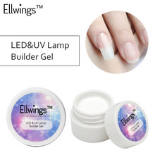 Ellwings Christmas 3 Color Options UV Gel Builder Pink White Clear Transparent Gel for Nail Extensions Nail Art Tips Manicure