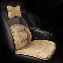 3PCS Plush Car Seat Cushion, Auto Headrest Neck Pillow