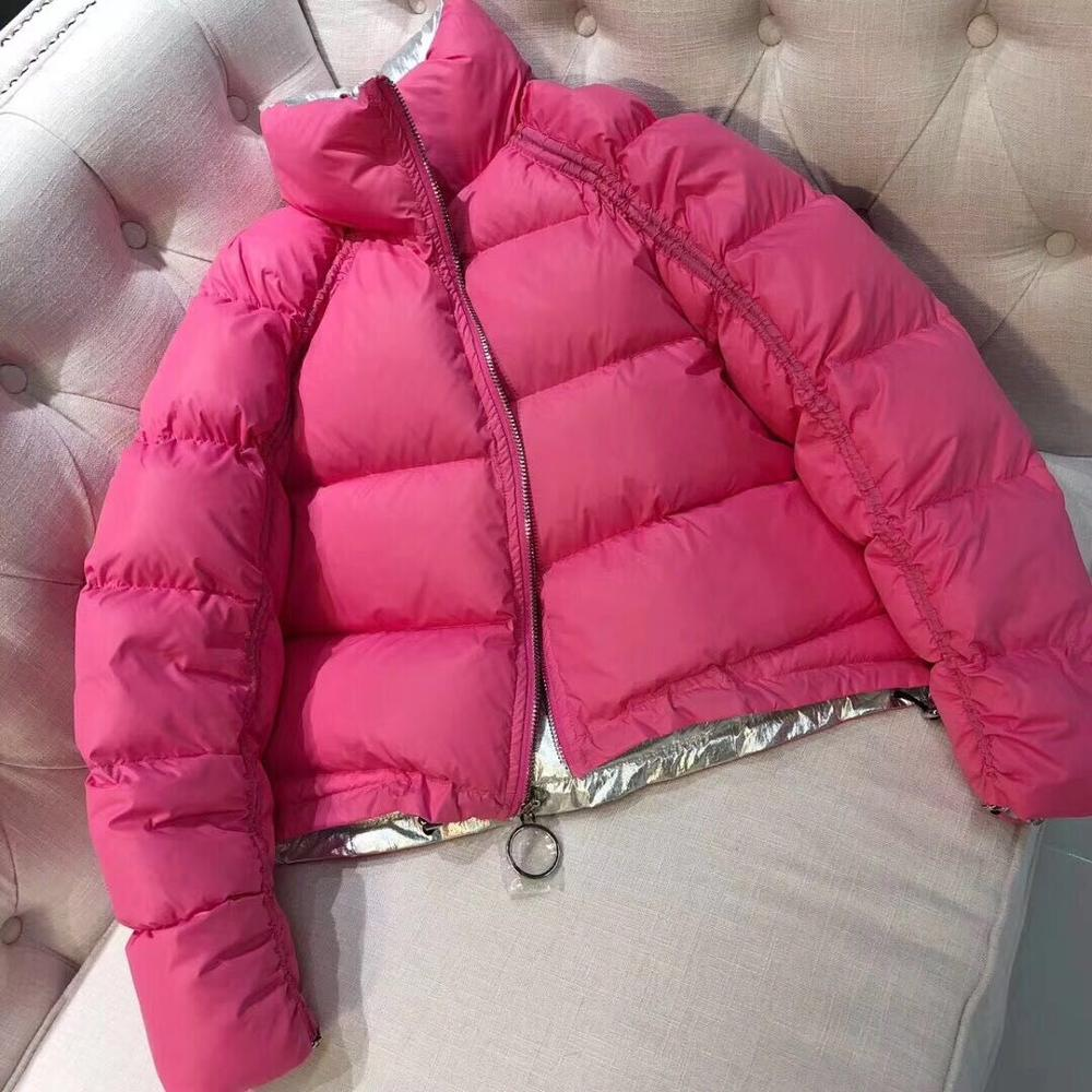 Winter Jacket Women 2019 Female 90% White Duck   Down   Jacket Women Winter Double Sided Loose   Down     Coat   Breasted Thick   Down   Parkas