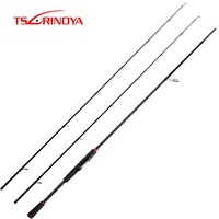 TSURINOYA PLEASURE V 2.13m Spinning Fishing Rod 2 Tips M/ML Power 2 Section Carbon Fiber Lure Rod SIC Guide Rings Spinning Rod
