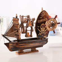 Something Antique Pirate Boat Music Box The Mediterranean Amorous Woodiness Do Used Music Windmill Birthday Gift