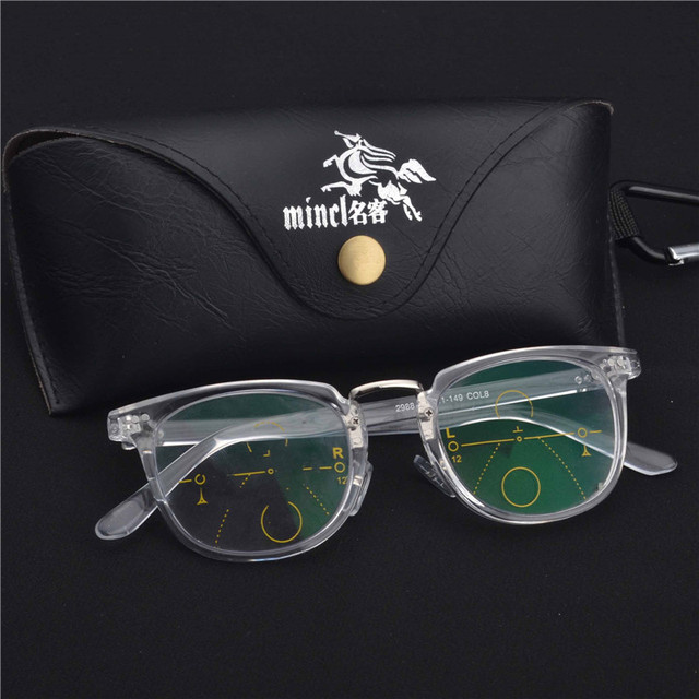 b16da64045 MINCL High End Progressive Multifocal Reading Glasses Bifocal Reading  Eyeglasses See Near And Far Eyewear Women Men Diopter LXL
