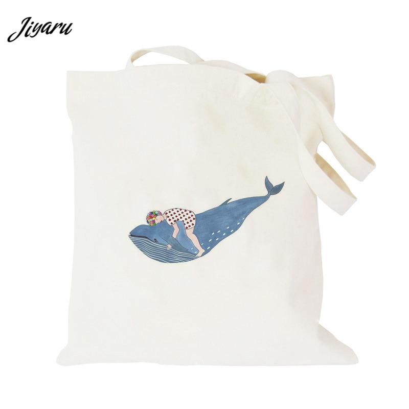 Tote Bag Canvas Reusable Shopping Bag Women Men Handbags Foldable Canvas Tote Grocery Shoulder Bag tote bag