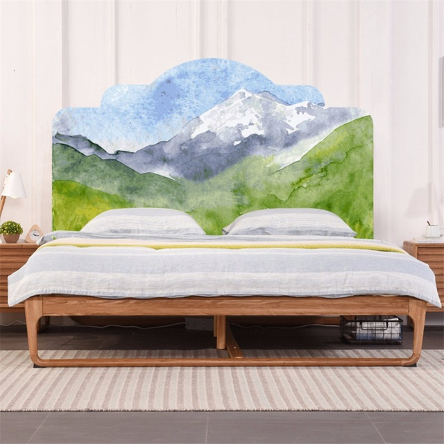 yanqiao watercolor mountain wall sticker bedroom decor headboardyanqiao watercolor mountain wall sticker bedroom decor headboard mural wallpaper peel and stick easy to apply