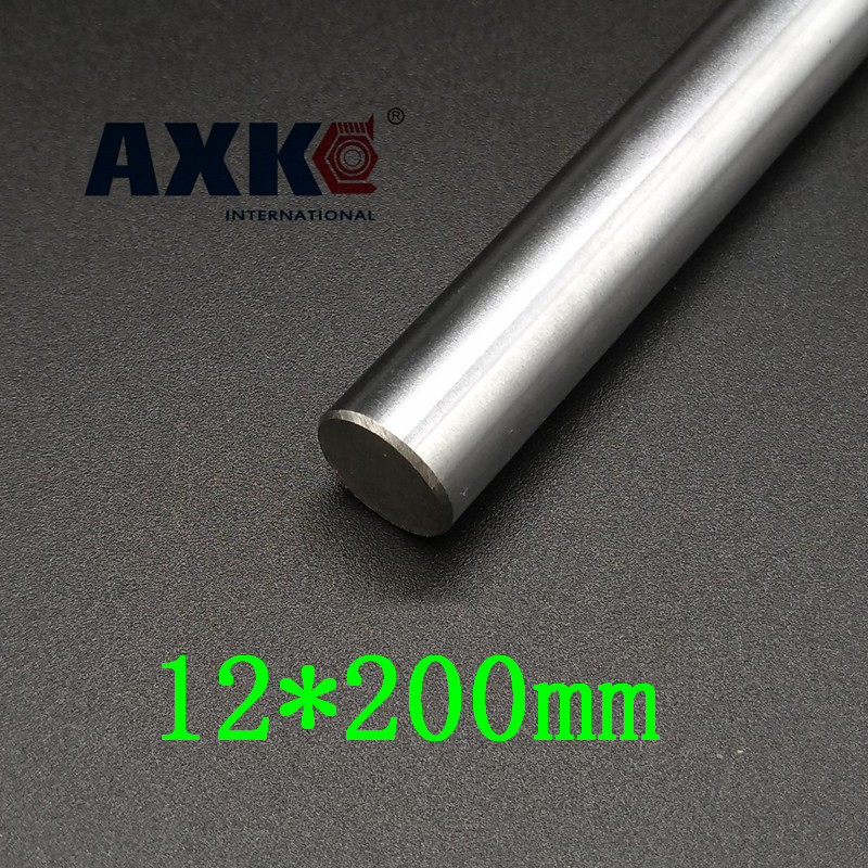 AXK  12 mm linear shaft L 200 mm chrome plated linear motion guide rail round rod Shaft for cnc robot диски helo he844 chrome plated r20