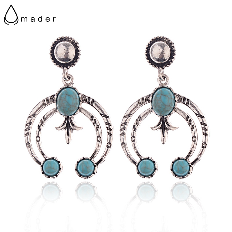 Modest Amader 2018 Vintage Round Green Beads Stud Earrings Women Leaves Pattern Female Summer Earrings Orecchini Etnici Hqe921 High Resilience Stud Earrings Jewelry & Accessories