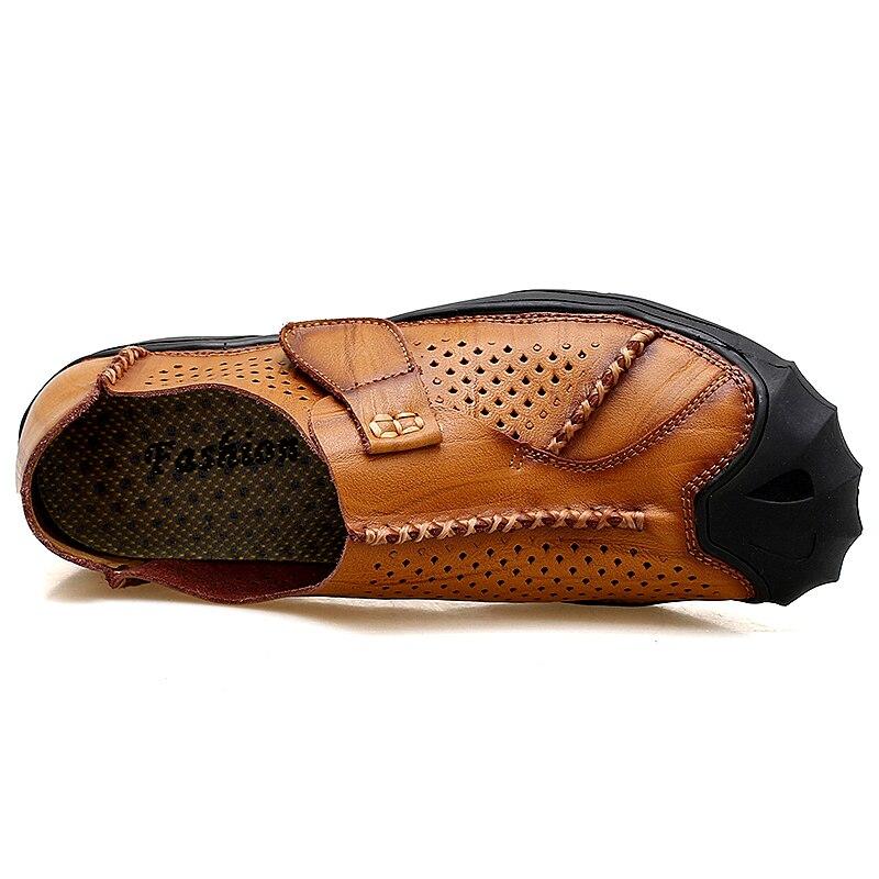 marron Appartements Sur Les Mocassins Mode En Chaussures Cuir Véritable Noir Glissement Qualité Ramialali Casual Confortable Haute Hommes Ybf76vymgI