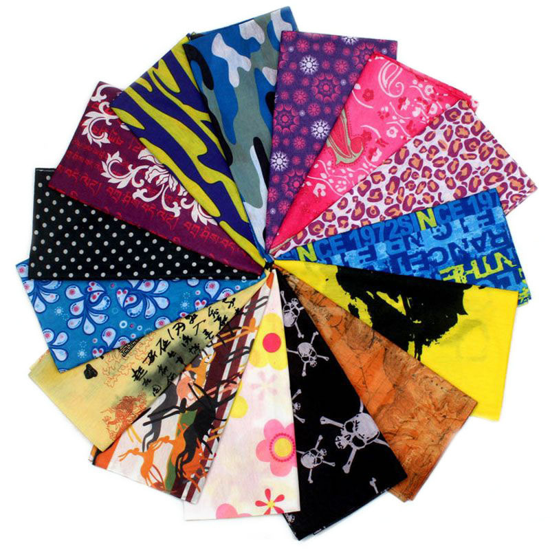 HanXi Multi Use Running Cycling Bandana Buffet Tubular Seamless Headscarf Magic Headband Women Men Face Shield Mask Buffe