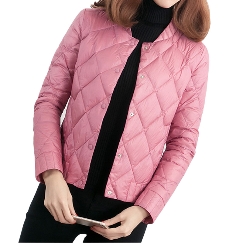 New Spring Ultra Light Down Coat Short Slim Thin Parkas Outwear Jackets Winter Fashion O-neck Casual Down Coats RE0316