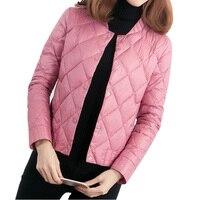 New Spring Ultra Light Down Coat Short Slim Thin Parkas Outwear Jackets Winter Fashion O Neck