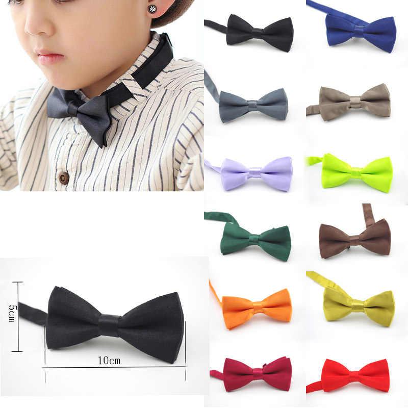 Clássico Garoto Bowtie Meninos Grils Bebê Crianças Bow Tie Moda 25 Hortelã Cor Sólida Verde Vermelho Preto Branco Verde Animais de Estimação cravate