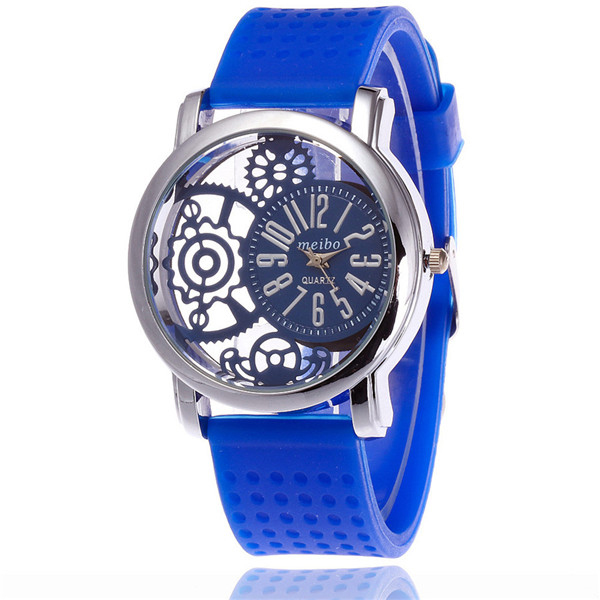 MEIBO 2087 women Fashion Silicone Watch Casual Women Dress Quartz Watches Clock blue фильтр для аквариума sea star hx 300l внутренний 5w 300 л ч