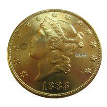 Дата 1883 1883-CC 1883-S 1884 1884-CC 1884-S 1885 1885-CC США золотые в виде(девиз на обратной стороне)$20 золото копия монет