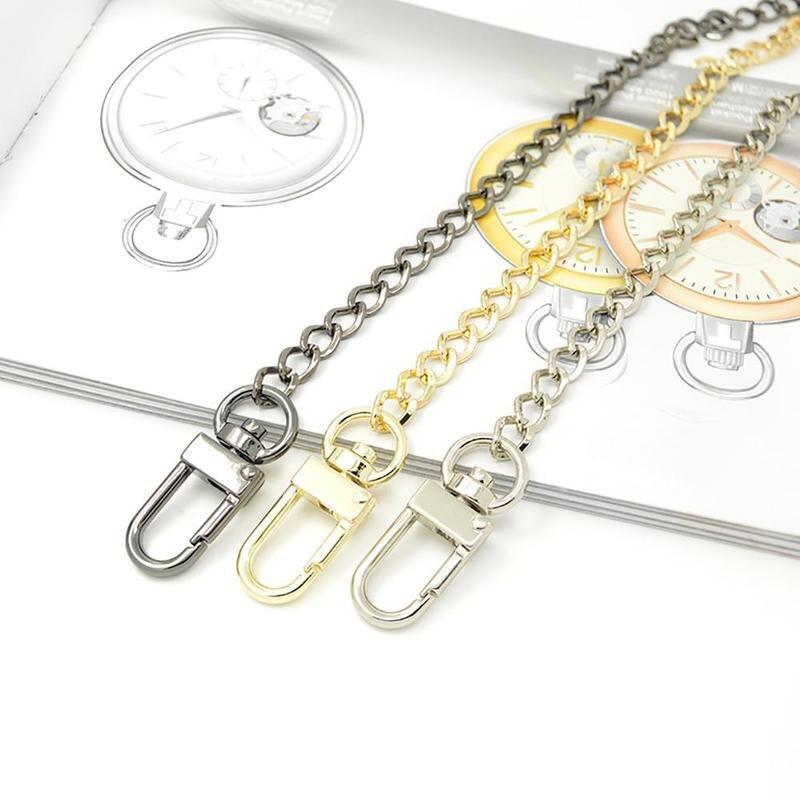 Long 120cm Metal Purse Chain Strap Handle Handle Replacement For Handbag Shoulder Bag 3 ColorLong 120cm Metal Purse Chain Strap Handle Handle Replacement For Handbag Shoulder Bag 3 Color