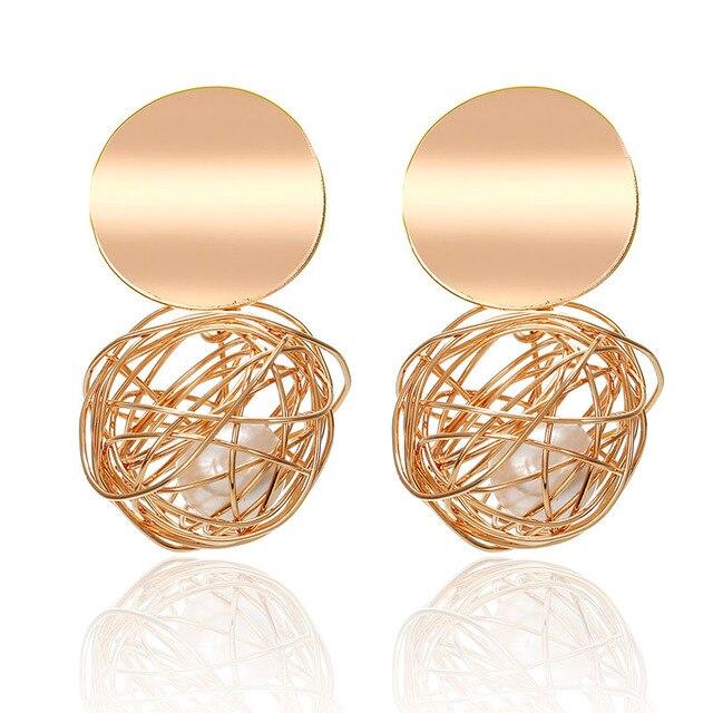 Fashion Statement Earrings 2018 Big Geometric earrings For Women Hanging Dangle Earrings Drop Earing modern Jewelry 4