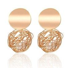 Fashion statement earrings 2018 ball Geometric earrings For Women Hanging Dangle Earrings Drop Earing modern Jewelry