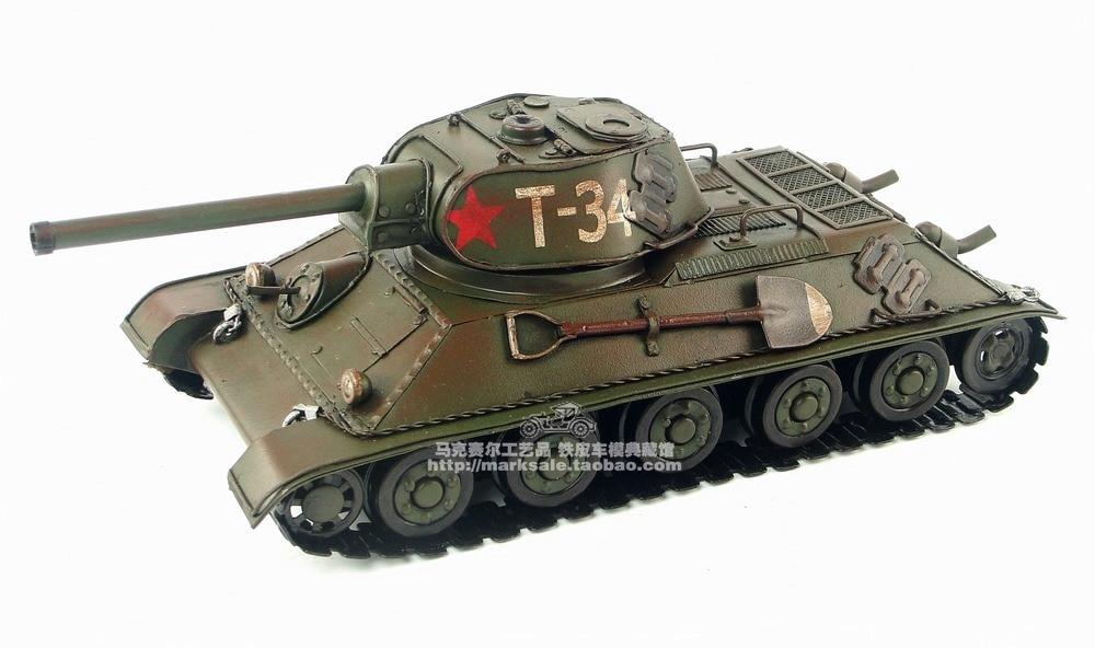 Ev ve Bahçe'ten Heykelcikler ve Minyatürler'de Vintage El Yapımı tankı askeri model 1940 Sovyet T 34 MBT antika el sanatları'da  Grup 1