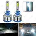 2PCS Bright 880/881 6000K 48W 5200LM Car LED Headlights COB Chips Car Fog Light Bulbs Xenon Light with Fan #FD-1430