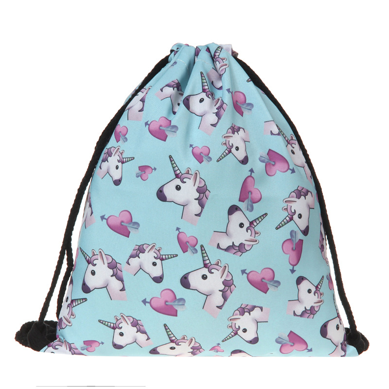 Hot New Fashion High Quality Women Girls Drawstring Sports Shoe Dance Bag Schoolbag Storage Backpack