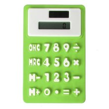 YOC-Pocket solar Office silicone Green 8 digit calculator