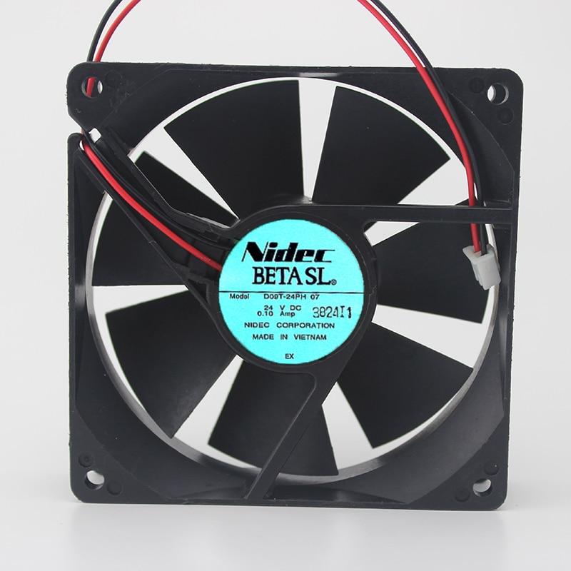 Genuine D09T-24PH 07 24V 0.10A 9CM 9025 2-wire inverter fan